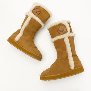 Michael Kors Winter Luggage Shearling Tall Boots